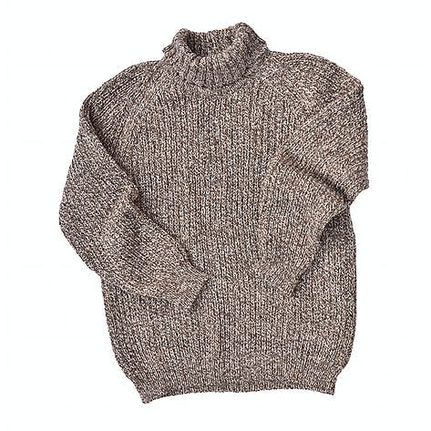 d68181721383c8 Men's Irish Donegal tweed wool polo neck sweater in a fisherman's ...
