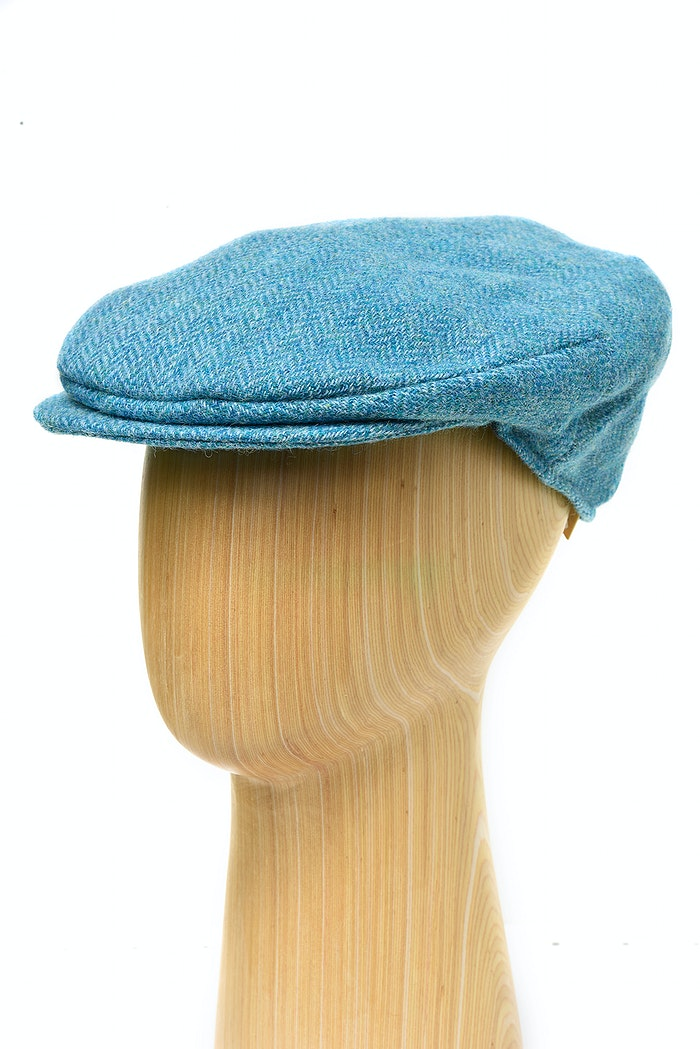29f61518e Turquoise herringbone tweed cap by Hanna Hats of Donegal and ...