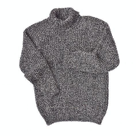 9cbf5451b Men s Irish Donegal tweed wool polo neck sweater in a fisherman s ...