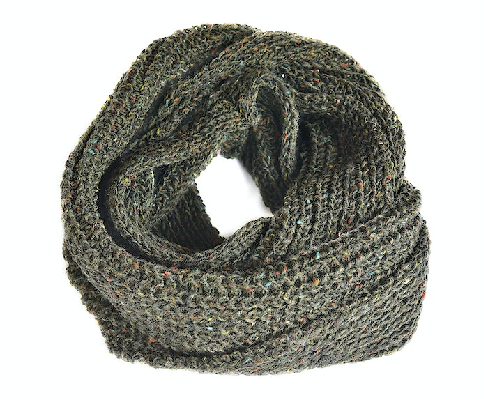 Donegal Tweed Wool Snood Cowl Scarf Hand Loomed In A Rich