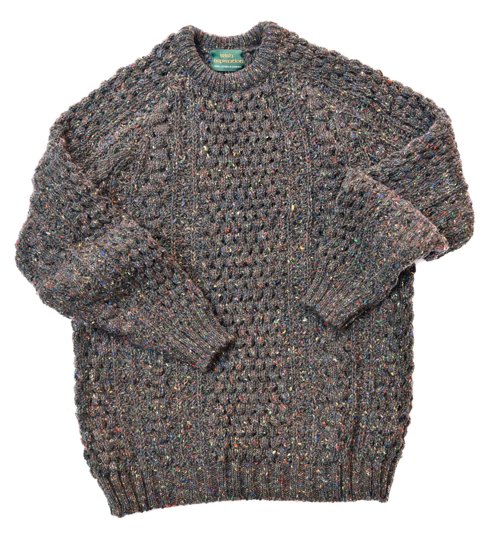 Buy a multi coloured rainbow Donegal Aran sweater from Irish