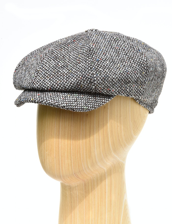 1cbc8406 Hanna eight piece caps in grey Donegal tweed from Irish Inspiration ...
