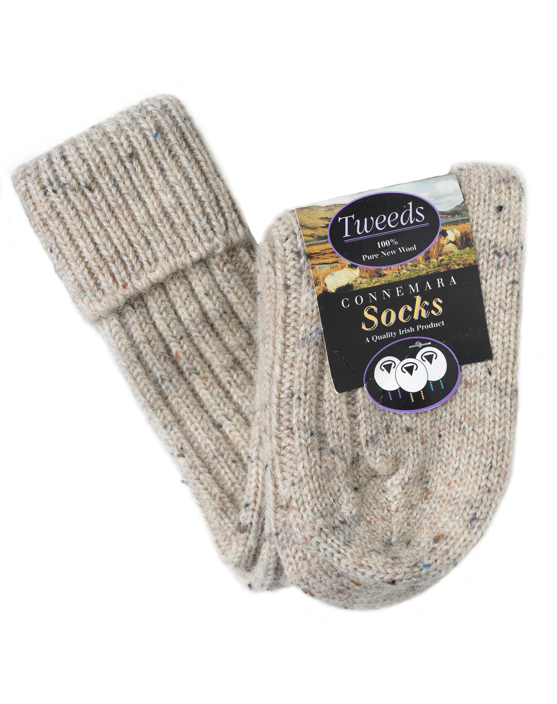 Socks, Natural, Long, Irish Inspiration, 100% Wool | Irish