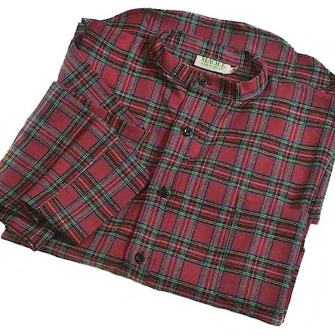 8403e46231 Magee s of Donegal Irish Flannel Grandfather NIGHTSHIRT - Royal Stewart