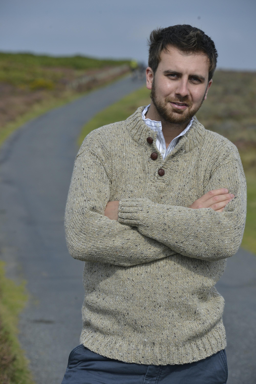 Sweaters Mens Button Neck Irish Inspiration