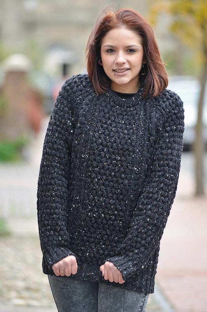 Buy a black Donegal Aran sweater from Irish Inspiration ...