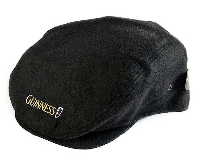 e484e8d43 Guinness Pint Flat Cap - Black (G6152) | Irish Inspiration