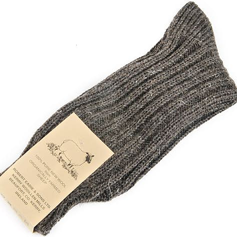 Mens and womens 100% wool Irish walking socks, Organic, Jacob's