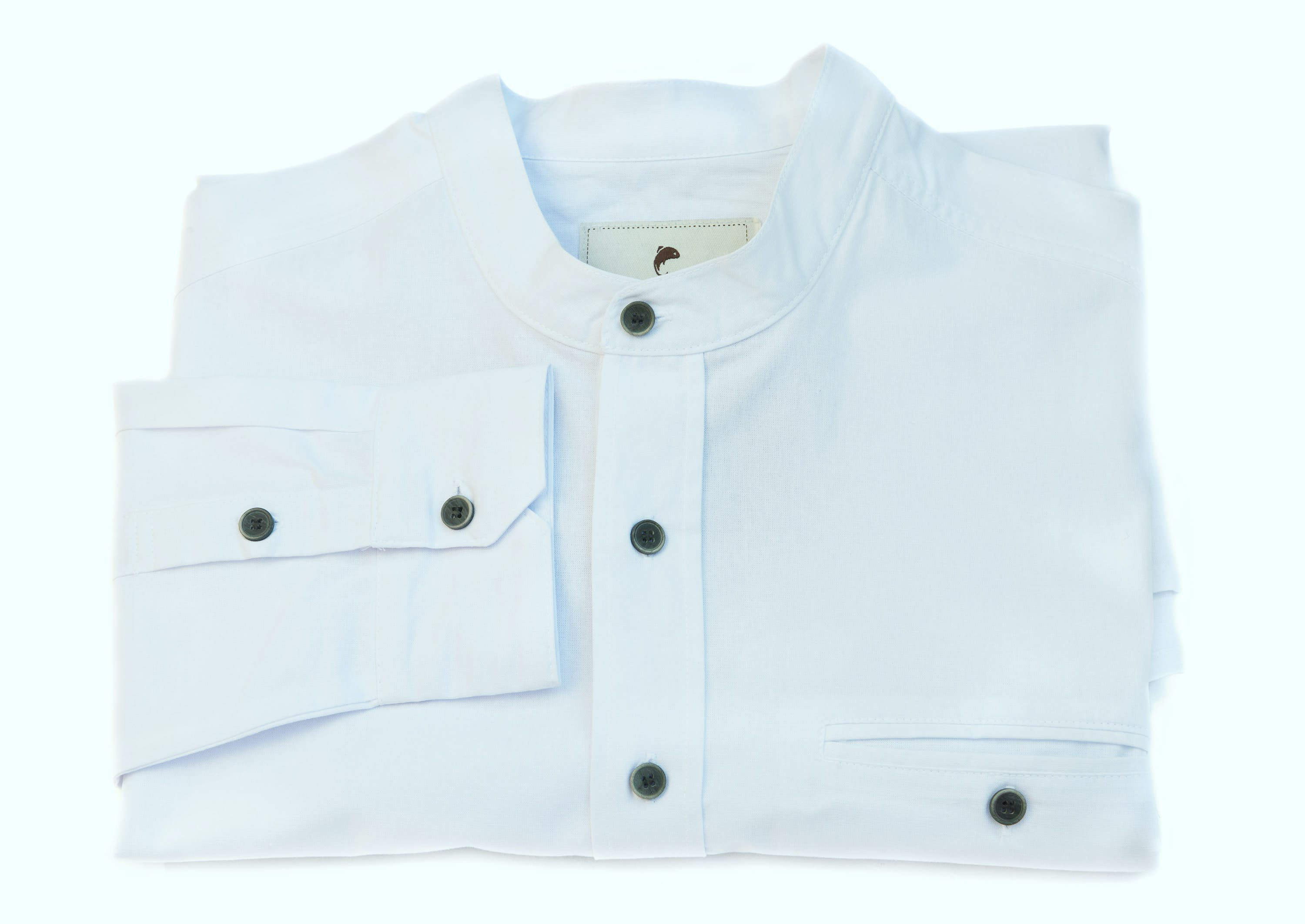 Buy white grandad shirt from irish inspiration irish for Crisp white cotton shirt