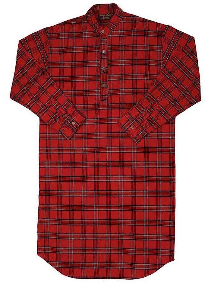 0b4230d3ff Lee Valley red tartan grandfather nightshirt from Irish Inspiration ...